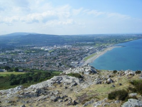 Bray. A town about 30 minutes outside Dublin.